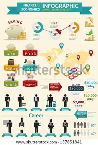 Finance & Economics Infographic - stock vector