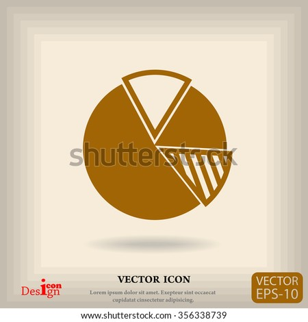 finance graph vector icon - stock vector