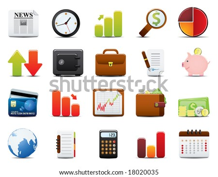 Finance Icon Set. Easy To Edit Vector Image. - stock vector