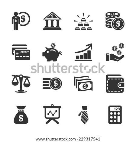 finance icon set, vector eps10. - stock vector
