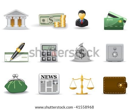 Finance icons 1 - stock vector