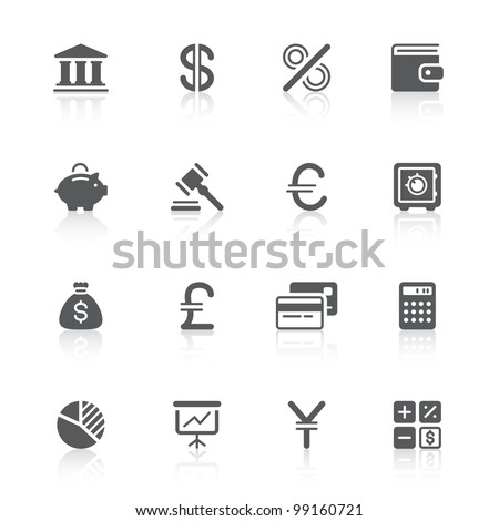 finance icons for your design - stock vector