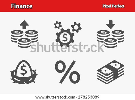 Finance Icons. Professional, pixel perfect icons optimized for both large and small resolutions. EPS 8 format. - stock vector