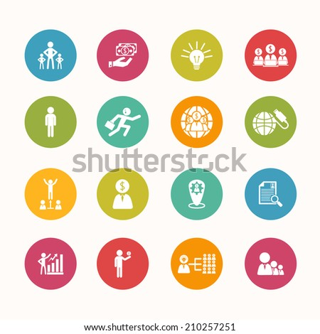 finance icons set Circle Series - eps.10 - stock vector