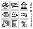Finance icons set. Vector. - stock vector