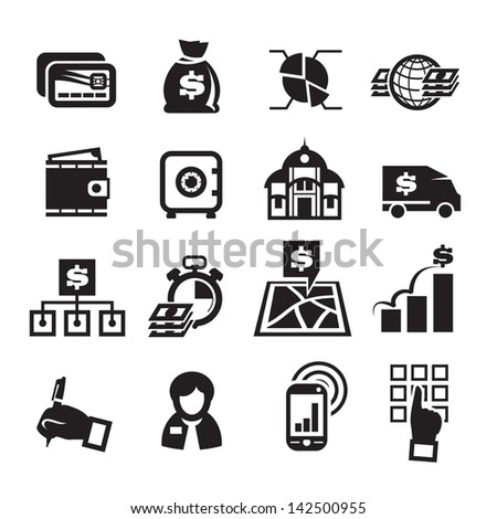 Finance Icons. Vector illustration - stock vector