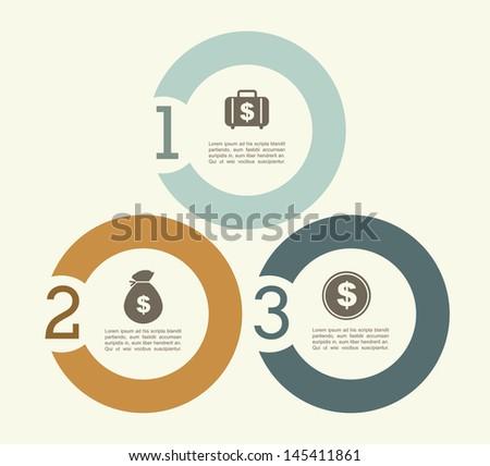 finance infographics over white background vector illustration  - stock vector
