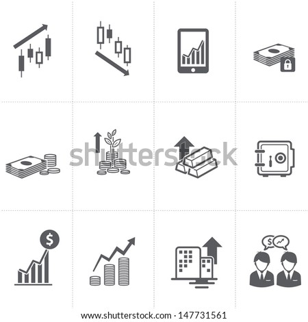 Finance & Investment Icons set  - stock vector