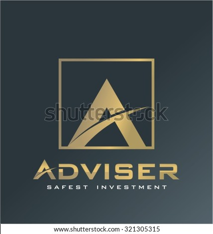 Finance logo vector, adviser symbol, advice icon. - stock vector