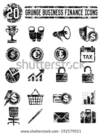 Finance & Marketing  icons on white background,vector - stock vector