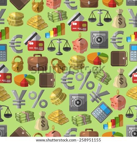 Finance pattern - stock vector