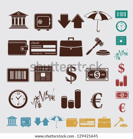 finance set - stock vector