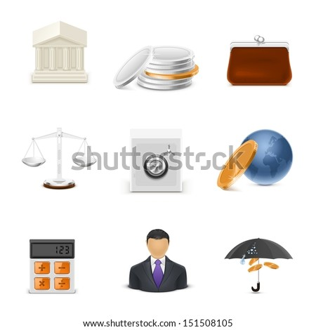 finance vector icons - stock vector