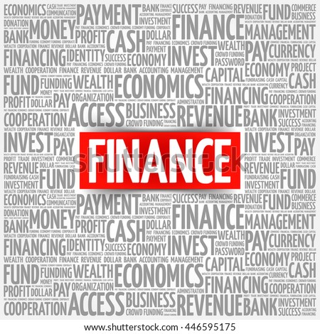 FINANCE word cloud collage, business concept background - stock vector