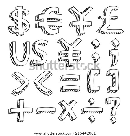 Financial & Accounting Icon Set - stock vector