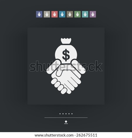 Financial agreement - stock vector