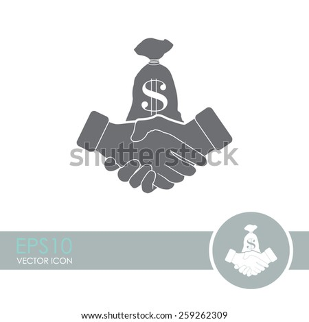 Financial agreement vector icon. - stock vector