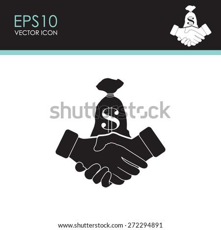 Financial agreement vector icon. - stock vector