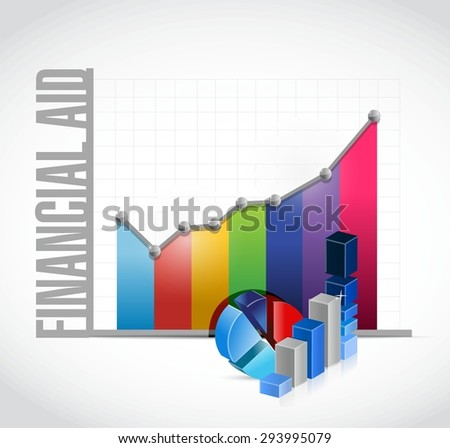 financial Aid business charts sign concept illustration design graphic