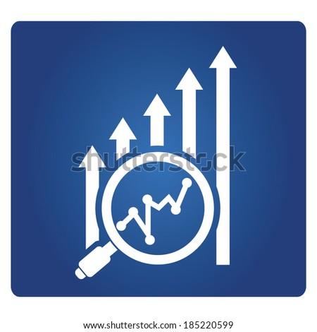 financial analysis, data analysis symbol - stock vector