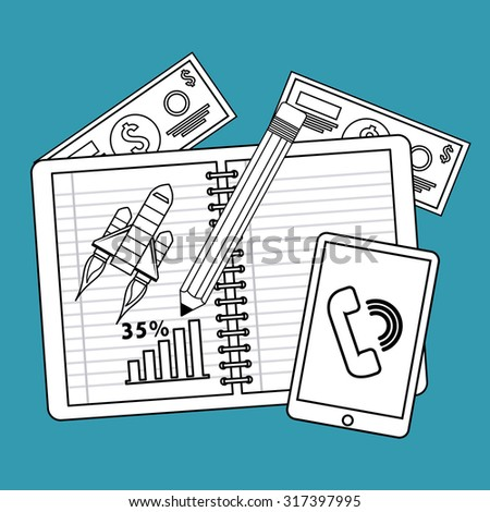 financial analysis  design, vector illustration eps10 graphic