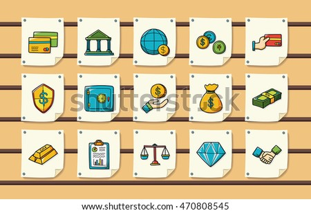 Financial and money icons set,eps10