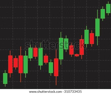 Financial background stock market graph - stock vector