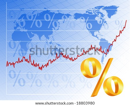 Financial background, vector illustration, EPS file included - stock vector