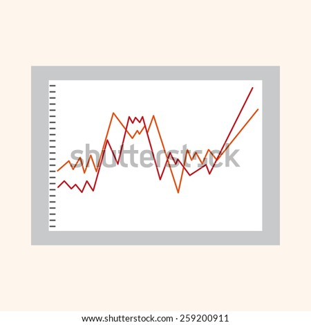 Financial charts theme elements - stock vector