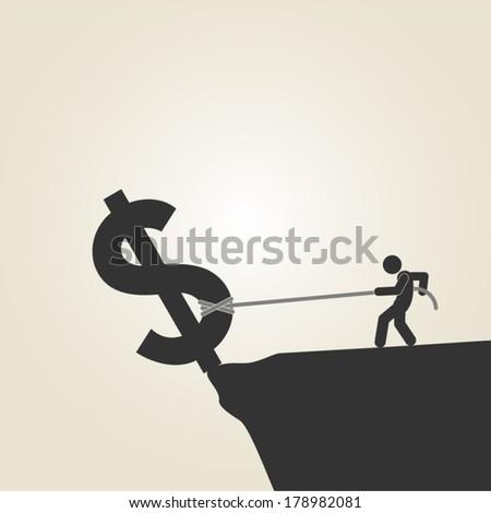 financial crisis - stock vector