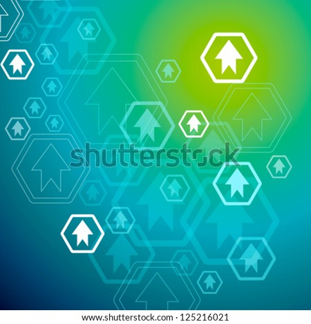 financial graph stat business background - stock vector
