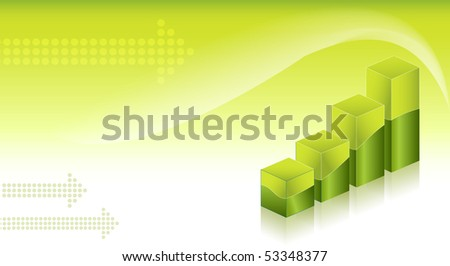 Financial Graphs background - stock vector
