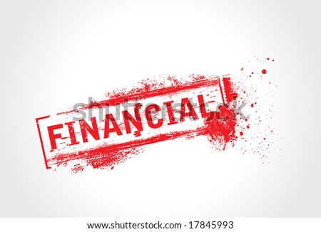 Financial Grunge Text