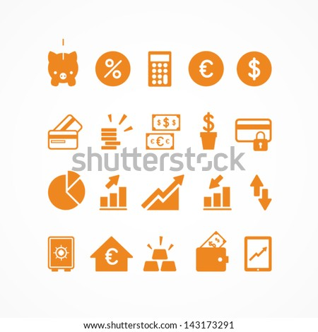 Financial icons - stock vector