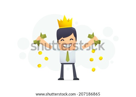 Financial king. conceptual illustration - stock vector