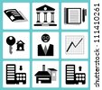 financial management and banking icon set - stock vector
