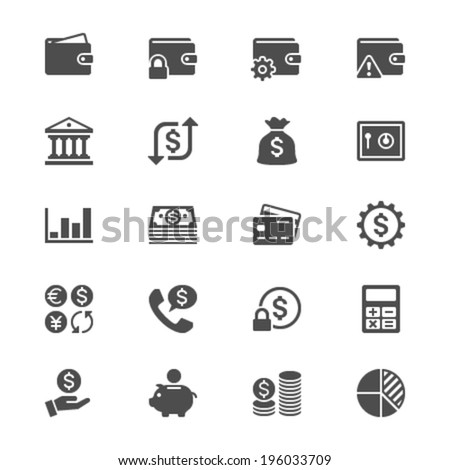 Financial management flat icons