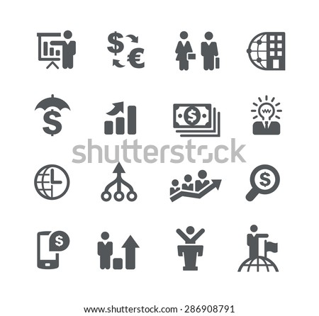 Financial Planning // Business Strategies - stock vector