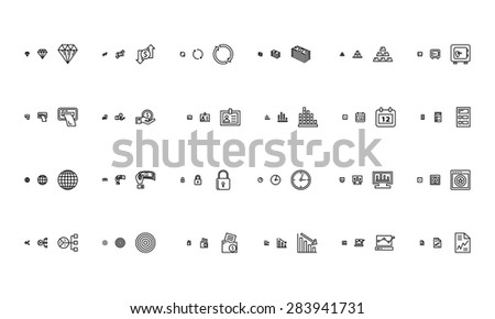 Financial Responsive Vector Icons 2