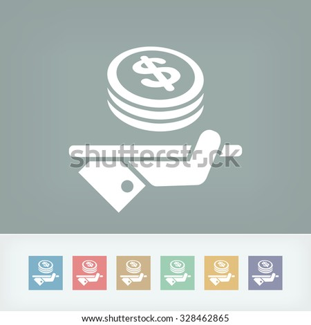Financial services - Dollars - stock vector