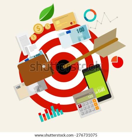 financial target - stock vector