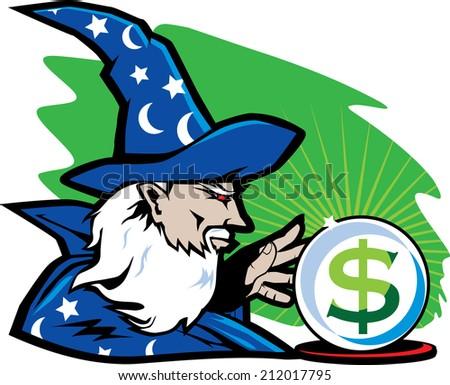 Financial Wizard - stock vector