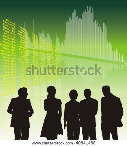 Financial World crisis, Forest Chart, vector illustration