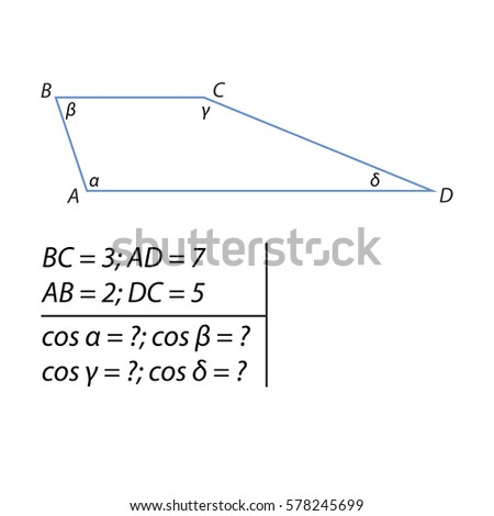 how to find the height of a trapezoid with angles