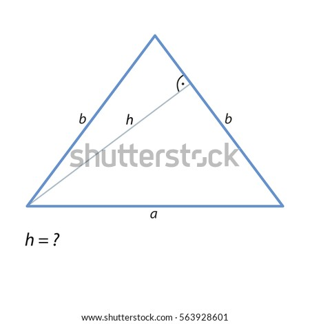 how to find the height of an isosceles triangle