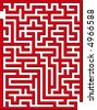 Find the way out from this maze - stock vector