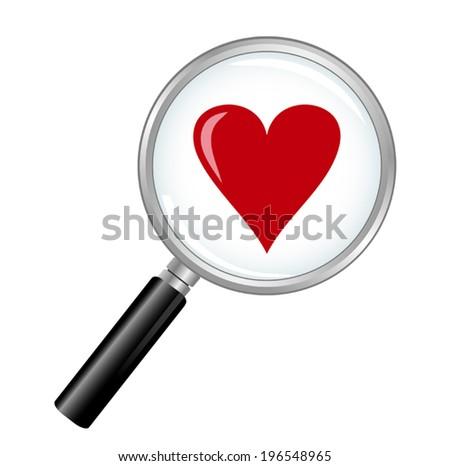 Finding Love - stock vector