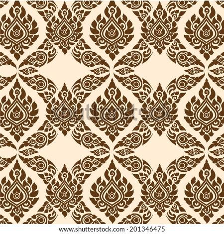 fine art flower Thai background - stock vector