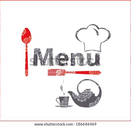 Fine menu for cafe, restaurant. - stock vector