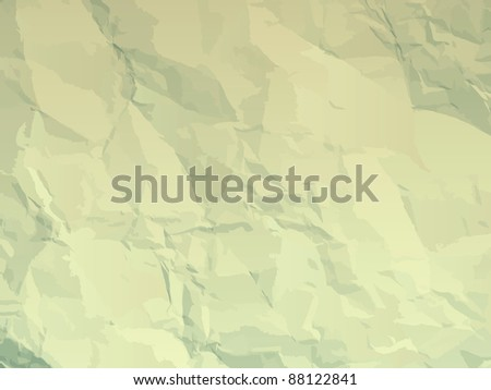 Fine textured old paper folds & stains. EPS 8 vector file included - stock vector